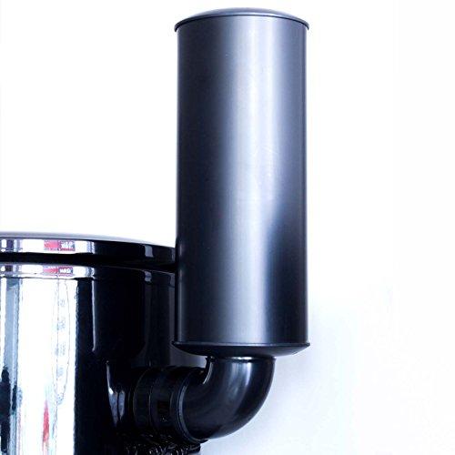 crossvac Zentralstaubsauger 5700 für größere Häuser geeignet, max 1000m² Wohnfläche, 5461 mmWS Unterdruck, 1160 Airwatt, LED-Display, 2-Motoren und wartungsfreier HEPA-Filter