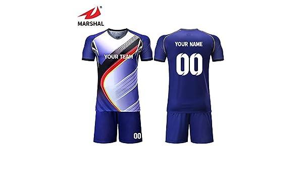 ZHOUKA personality soccer jerseys custom name team kit football uniform  dark blue shirt  Amazon.co.uk  Sports   Outdoors 0403ac191