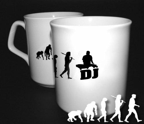 Preisvergleich Produktbild Shirtzshop DJ Deejay Discjockey DJane Disco Evolution BÜROTASSE BUEROTASSE TASSE KAFFETASSE MUG