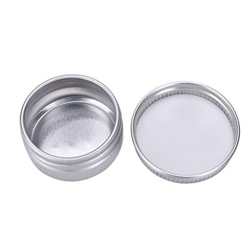 Welecom 5 boîtes rondes en aluminium pour baume à lèvres, produits de beauté, cosmétiques, accessoires, Img 2 Zoom