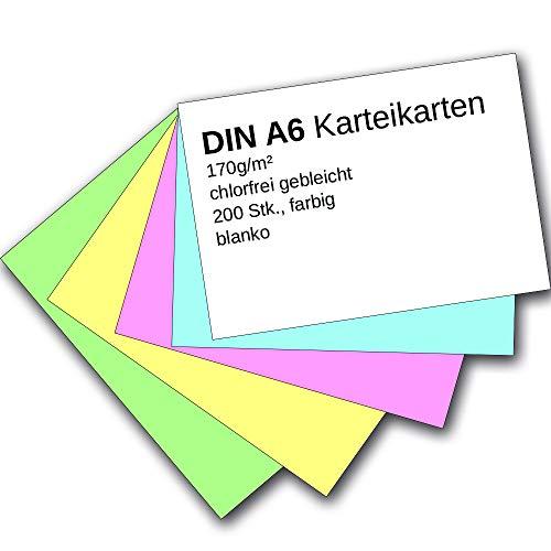 Sparpaket 300 Karteikarten in A6 blau blanko von Herlitz