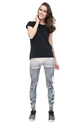 Leggings für Damen/Mädchen, mit 3D-Grafik, elastisch - New York