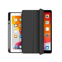 جراب Celest لجهاز iPad Air (الجيل الثالث) 10.5 بوصات 2019 / iPad Pro 10.5 بوصات 2017، جراب رفيع للغاية وخفيف الوزن ثلاثي الطي، جراب خلفي غير شفاف وحامل قلم لجهاز Apple iPad