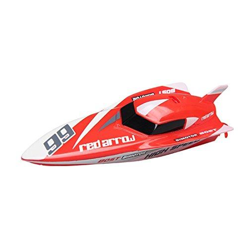 Tosbess 2.4Ghz Wasserdicht RC Speedboot RC Boot Funkferngesteuertes Boot RC Rennboot Geeignet für Kinder Jungen / Mädchen mit Freunden*
