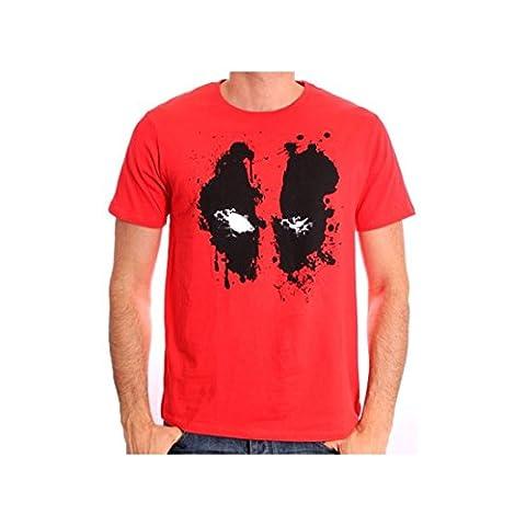T-Shirt rouge Deadpool Splash (Taille Xxl)