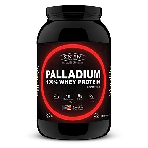 Sinew Nutrition Palladium 100% Whey Protein - 1 kg / 2.2 lbs (Vanilla Flavor)  available at amazon for Rs.1799