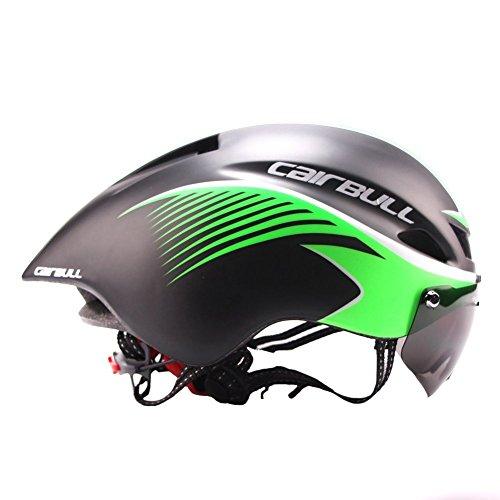 Gwanna, Casco da Motociclismo, Ultraleggero, Casco aerodinamico per Moto, Ciclismo, Montagna, Strada, Skateboard, Sci e Snowboard, Black Fluorescent Green
