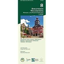 Blatt 8, Bergstraße-Weschnitztal: Wander- und Radwanderkarte 1:20.000. Mit Heppenheim, Fürth, Rimbach, Mörlenbach, Birkenau, Gorxheimertal, Weinheim, ... und Naturpark Neckartal-Odenwald)