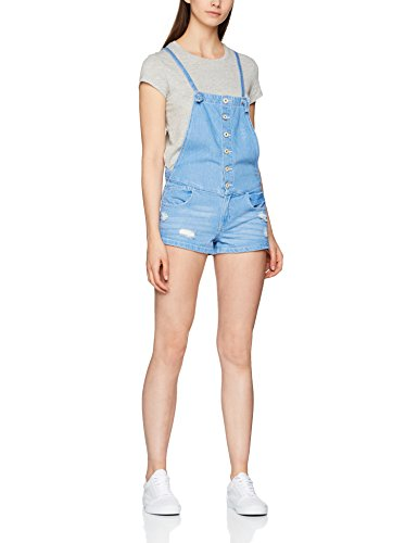 ONLY Damen Latzhose Onlkimber Short Dnm Overall Box Akm Blau (Medium Blue Denim), 40
