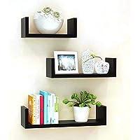 Unique Wooden Handicrafts Wooden Wall Rack Shelves Set of 3 Shelves Extra Large (5.5 x 16 x 4, 4.5 x 12 x 4, 4 x 8 x 4…