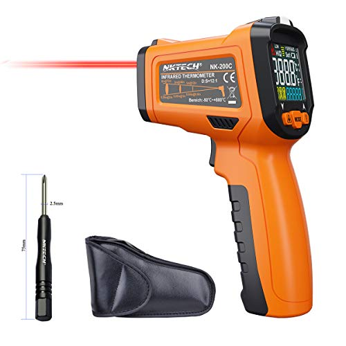 nktech nk-200C LCD Digital láser por infrarrojos pistola de infrarrojos termómetro -50~ 800°C temperatura termopar K-Type -40~ 500°C 12: 1sin contacto Tester con alarma ajustable emisividad