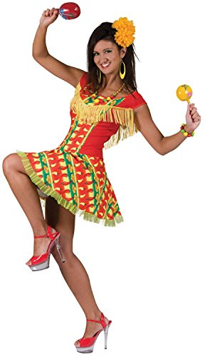 Ladies Mexican Spanish Around The World Fancy Dress Costume Outfit UK 10-12-14 (One Size (UK 10-14))