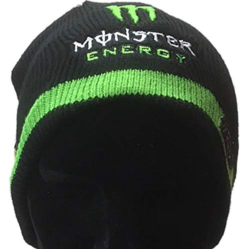 Tech3 Yamaha MotoGP Embroidered Monster Logo Black Knitted Slouch Beanie 8e3295878a5