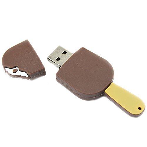 Gelato cioccolato 16 gb - ice cream chocolat summer - chiavetta pendrive - memoria archiviazione dei dati - usb flash pen drive memory stick