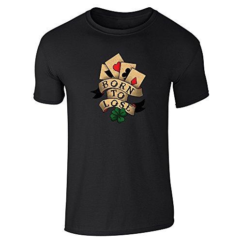 Pop Threads Herren T-Shirt Schwarz