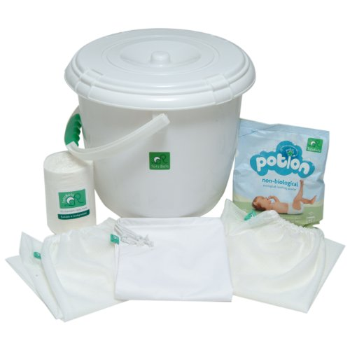 TotsBots Accessory Pack (Nappy Bucket,2 Mesh Bags,1 PUL Bags,2 x 100 Liners,Potion)
