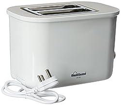 Sunflame SF-155 730-Watt 2-Slice Pop-up Toaster (White)