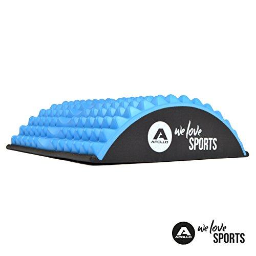 Apollo Banco de Musculación para Entrenar la Espalda en Material EVA Ligero de la Marca Aparato de Fitness ergonómico para Evitar Las tensiones y los Dolores de Espalda en Azul