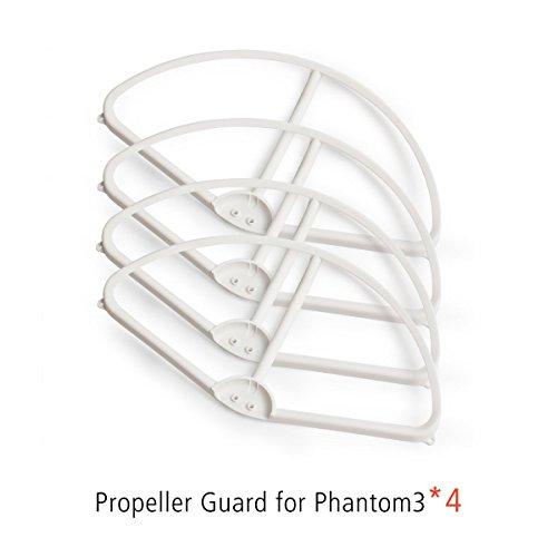 VIVINATURE 4 Pcs Durable Cadre Hélice Prop de Protection Guardes Lames Protecteurs Pare-chocs pour DJI Phantom 3 Quadrirotor(Blanc)