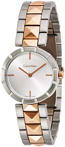 Calvin Klein Damen-Armbanduhr Analog Quarz Edelstahl K5T33BZ6