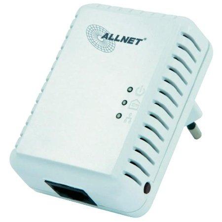 Allnet ALL168250 Powerline Homeplug AV Adapter (500Mbps, 1x RJ45 10/100Mbps, 1er Pack)