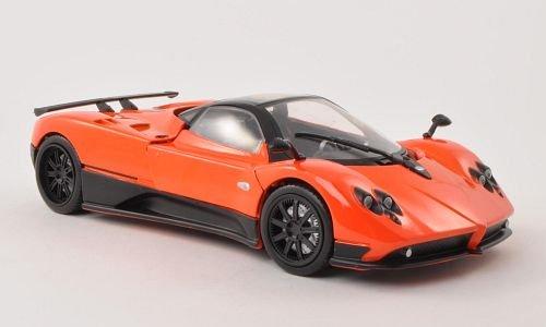 pagani-zonda-f-met-orange-modellauto-fertigmodell-motormax-118