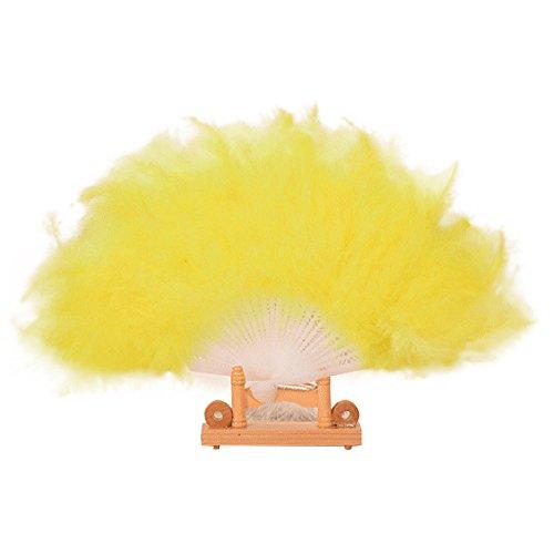 1920 Kostüm Showgirl - Sllowwa Klappfächer Mädchen Feder Fächer Vintage Handfächer 1920s Great Mädchen Fasching Kostüm Accessoires Zubehör