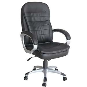 De Luxe Chaise fauteuil siège de bureau hauteur réglable cuir synthétique