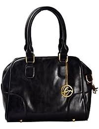 Shopclans Black Color Handbag For Girls / Women's L Material: Faux Leather (SPC-034)