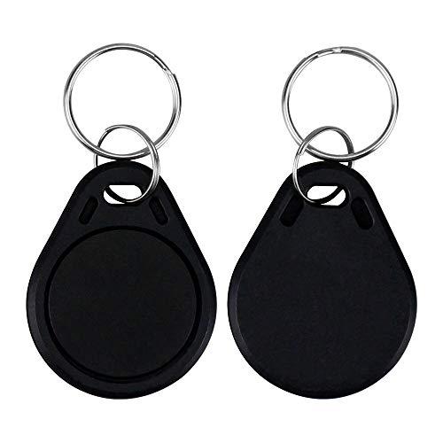 LIBO RFID Schlüsselanhänger NFC Smart Key Tag Karte RFID Zugangskontrolle Keyfobs Proximity 13,56 MHz MF 1k IC S50 Token Schreibgeschützt (100 Stück, Schwarz) 1 Proximity Card