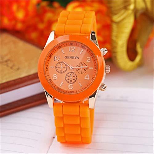 FVNRDS Damen Armbanduhr Silikon Damenuhren Damen Kleid Armbanduhren erlaubt Mix Farbe , orange