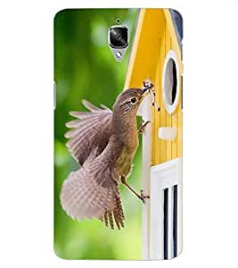 ColourCraft Lovely Bird Design Back Case Cover for OnePlus 3T
