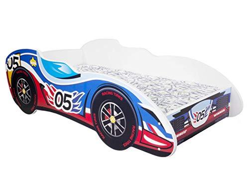 Topbeds cama infantil, diseño de coche de F1 Colchón incluido