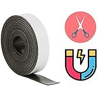 2x Cinta magnética magnético rayas magnético pantalla de banda cinta adhesiva cinta magnética Tiras Adhesivas autoadhesiva, 2500mm de largo, 15mm grosor para Listón magnético, Magnets triefen uvm.