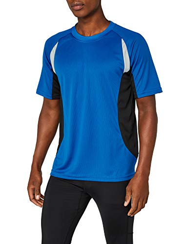 dry fit James & Nicholson Herren kurze Ärmel T-Shirt Running T blau (royal/black) XXX-Large