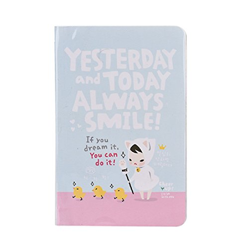 Tongshi Diario lindo Notebook Planner Red Hat Chica Agenda semanal (azul)