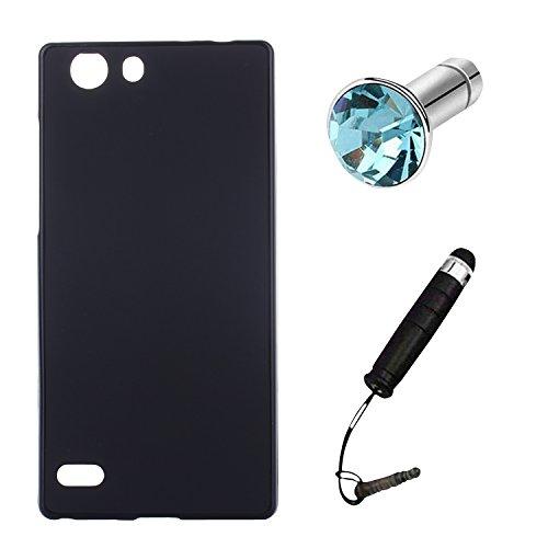 Lusee® Silikon TPU Hülle für Elephone S2 5.0 Zoll Schutzhülle Case Cover Protektiv Silicone schwarz
