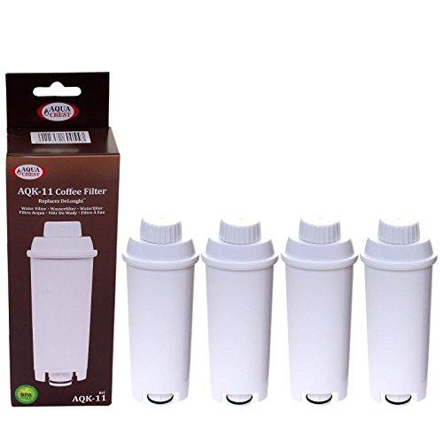 4 x Filterpatrone AquaCrest für Delonghi komp. SER3017 DLS C002 551329811