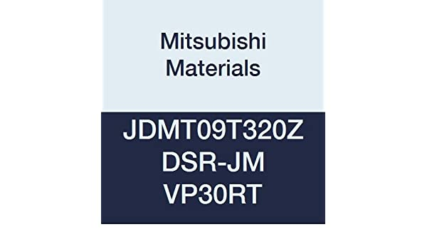 Case of 10 0.079 Corner Radius Chamfer and Round Honing Grade MP7130 0.375 Inscribed Circle Coated Mitsubishi JDMW09T320ZDSR-FT MP7130 Carbide Milling Insert Class M 0.156 Thick