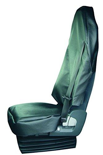 Werkstattschoner Sitzauflage Kunstleder LKW oder Transporter LKW Sitzbezug XXXL schwarz mit Gurtschlitz für den Gurt