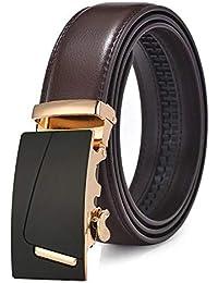 LLLM Cinturones Cinturón De Cuero para Hombres Moda Hebillas Automáticas  Cinturones De Moda De Negocios con 4c0e8218a078