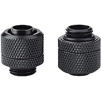 Diyeeni Conector de Tubo roscado de conexión 2PCS G1 / 4 Adecuado para el diámetro Interior de 9.5 mm y el Tubo Delgado de diámetro Exterior de 12.7 mm, Duradero y confiable(Negro)