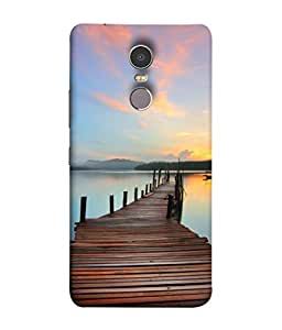 PrintVisa Designer Back Case Cover for Lenovo K6 Note (Horizon Dock Relax Scenery Clam Landscape)