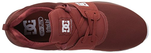 DC Shoes Mens Heathrow Sneakers Low Top Shoes Burnt Henna/White