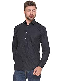 ZAKOD Polka Print Cotton Shirts for Men for Formal Use,100% Cotton Shirts,Available Sizes M=38,L=40,XL=42,100% Cotton Shirts