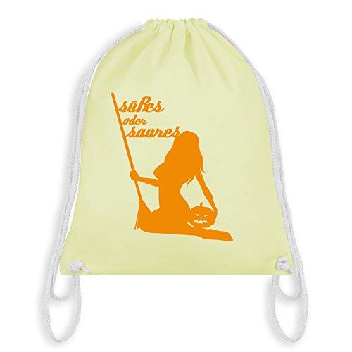 (Halloween - Süßes oder Saures - Unisize - Pastell Gelb - WM110 - Turnbeutel & Gym Bag)
