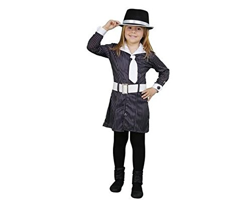 Mädchen Gangster Kostüme (7-9 Jahre) (Mädchen, Gangster Kostüm)