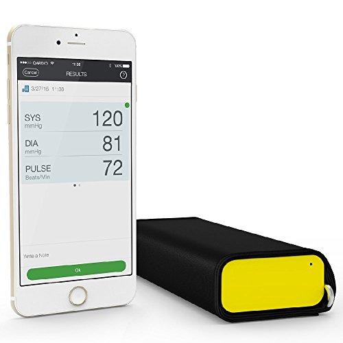 QardioArm Misuratore di Pressione Bluetooth per Apple iOS e Android, Giallo Sportivo