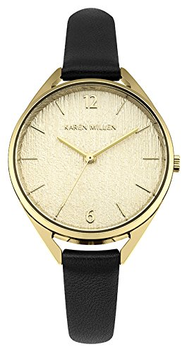 Karen Millen Women's Analogue Quartz Watch with Leather Strap KM162B