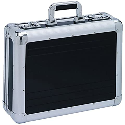 XL Aktenkoffer Aluminium schwarz Aluminiumkoffer Alukoffer Aluaktenkoffer Aluattache Attachekoffer Alu